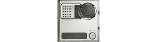 Модуль Urmet Sinthesi Steel с цветной ТВ камерой стандартного разрешения, 1 клавишей вызова и переговорным устройством