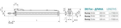 Штоковый электропривод Mingardi D8