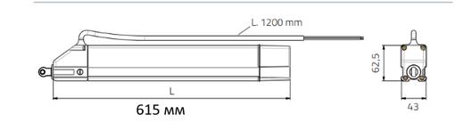 Штоковый синхронный привод регулируемый Mingardi EURO1